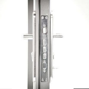 6 panel Steel Security Fire Door Side View