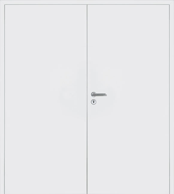 Double Doors In White
