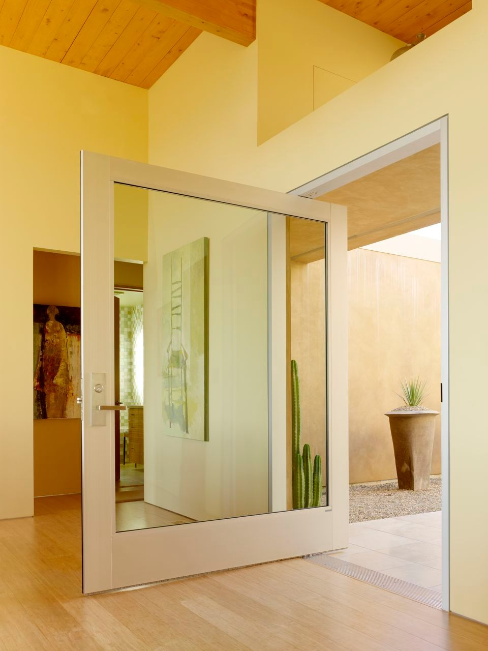 Exterior Pivot Glass Door