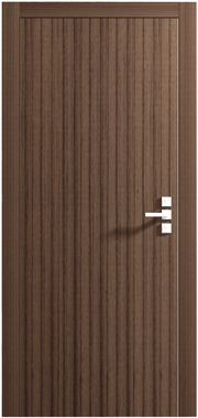Dark Walnut Interior Door With Modern Handle