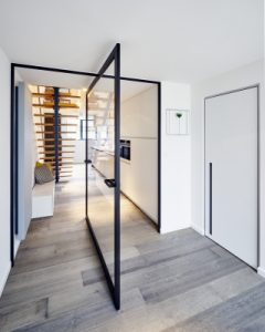 Central Axis Glass Pivot Door