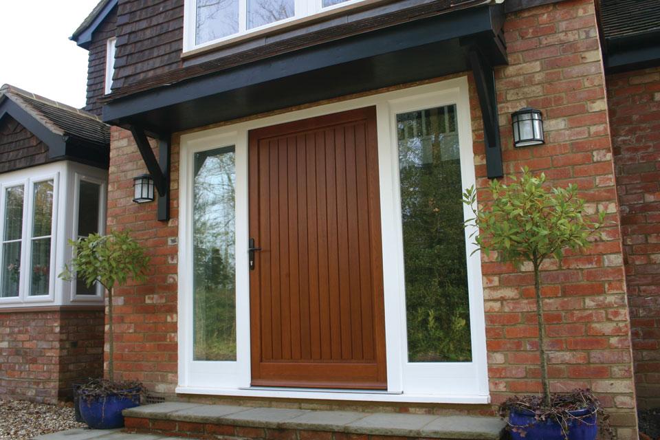 Wide Oak Front Door Fitted In Jersey